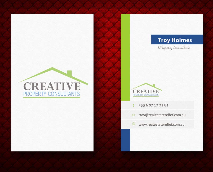 Konkurrenceindlæg #                                        125                                      for                                         Design some Business Cards for Creative Property Consultants