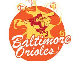 #22 para Baltimore Orioles Custom T-shirt design por the0d0ra