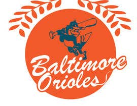 nº 23 pour Baltimore Orioles Custom T-shirt design par the0d0ra
