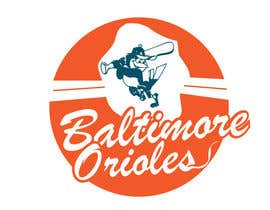 #24 para Baltimore Orioles Custom T-shirt design por the0d0ra