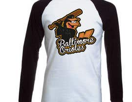 #10 for Baltimore Orioles Custom T-shirt design af brandonLee24