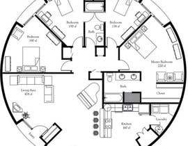 #3 für Architect's Design for a 2-bedroom Round, Grass Thatched House von ahmedrafayatul