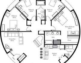 ahmedrafayatul tarafından Architect's Design for a 2-bedroom Round, Grass Thatched House için no 3