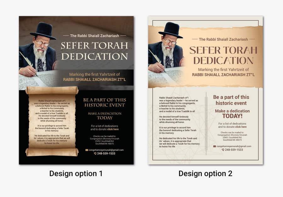 Proposition n°                                        28                                      du concours                                         Design a Flyer for an Event (Sefer Torah)