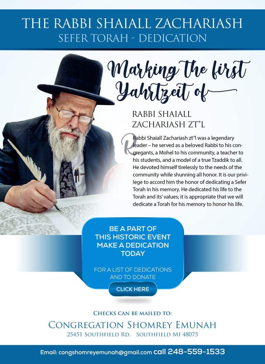 Proposition n°                                        161                                      du concours                                         Design a Flyer for an Event (Sefer Torah)