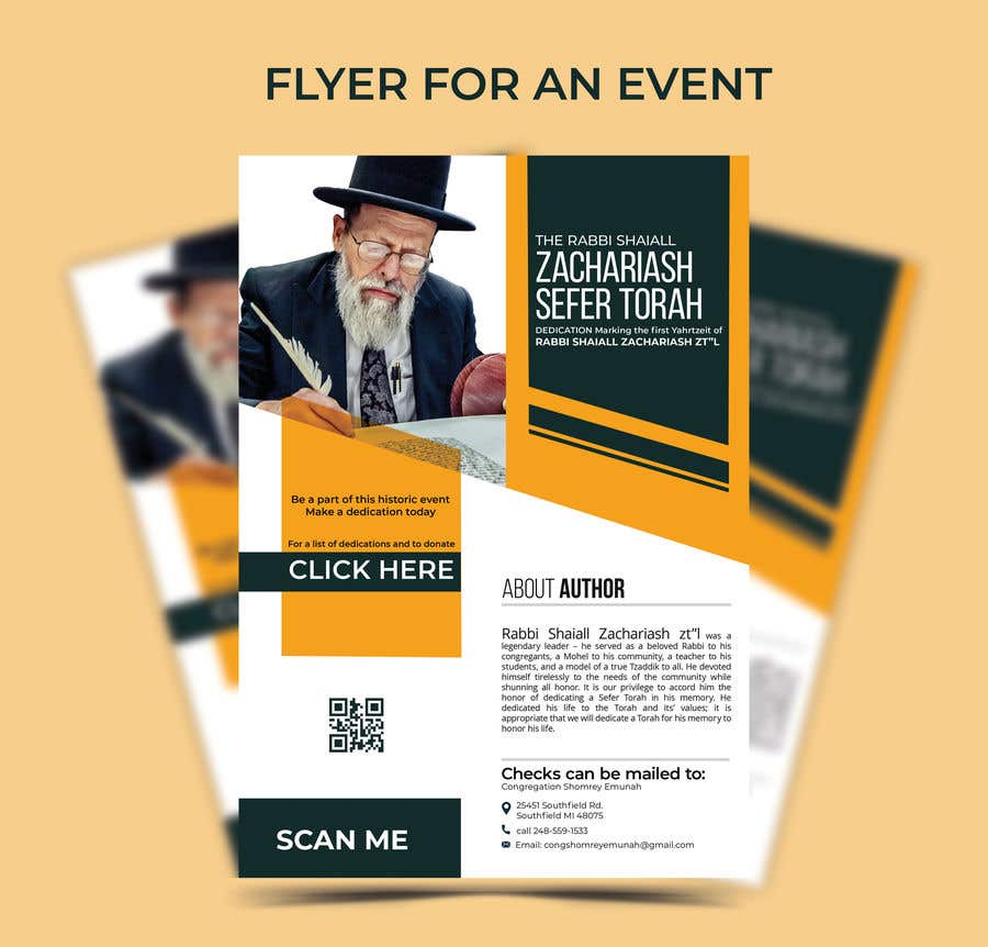 Proposition n°                                        149                                      du concours                                         Design a Flyer for an Event (Sefer Torah)