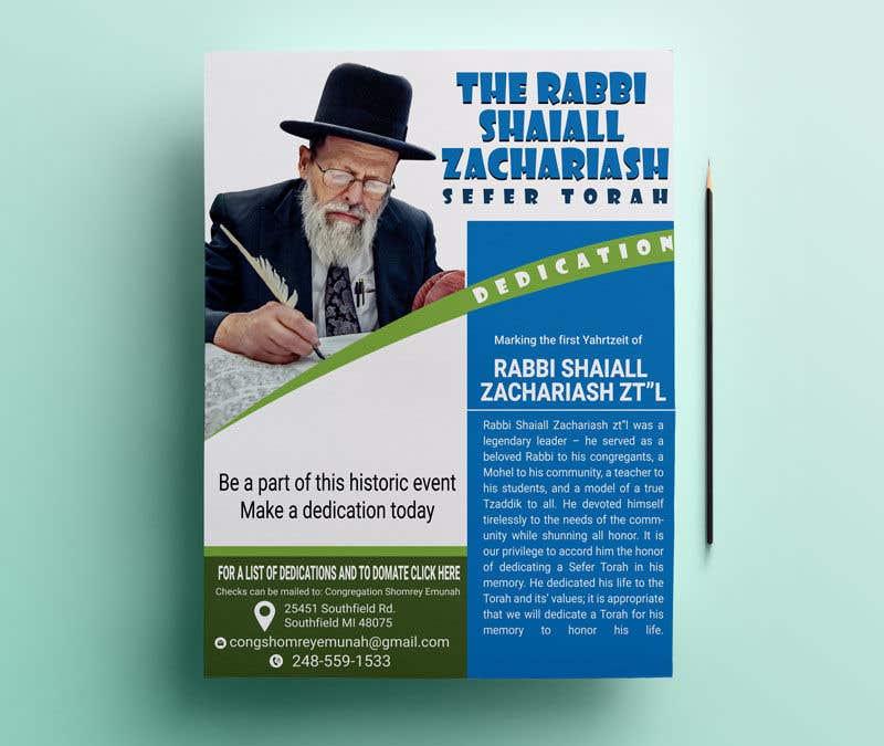 Proposition n°                                        30                                      du concours                                         Design a Flyer for an Event (Sefer Torah)