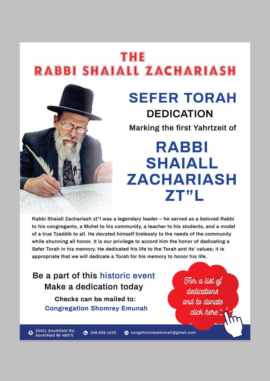 Proposition n°                                        79                                      du concours                                         Design a Flyer for an Event (Sefer Torah)