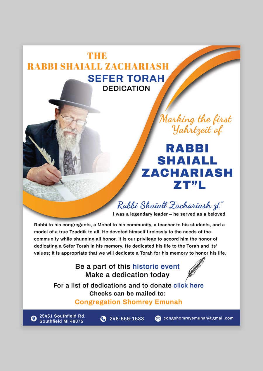 Proposition n°                                        157                                      du concours                                         Design a Flyer for an Event (Sefer Torah)