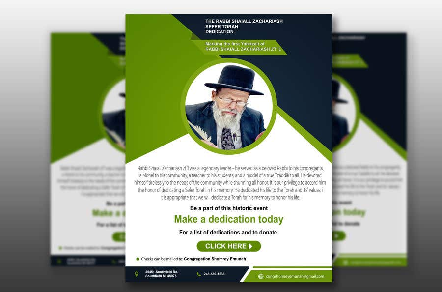 Proposition n°                                        16                                      du concours                                         Design a Flyer for an Event (Sefer Torah)