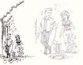 Nro 2 kilpailuun Family at wood splitting line drawing käyttäjältä Nileshkrlayek