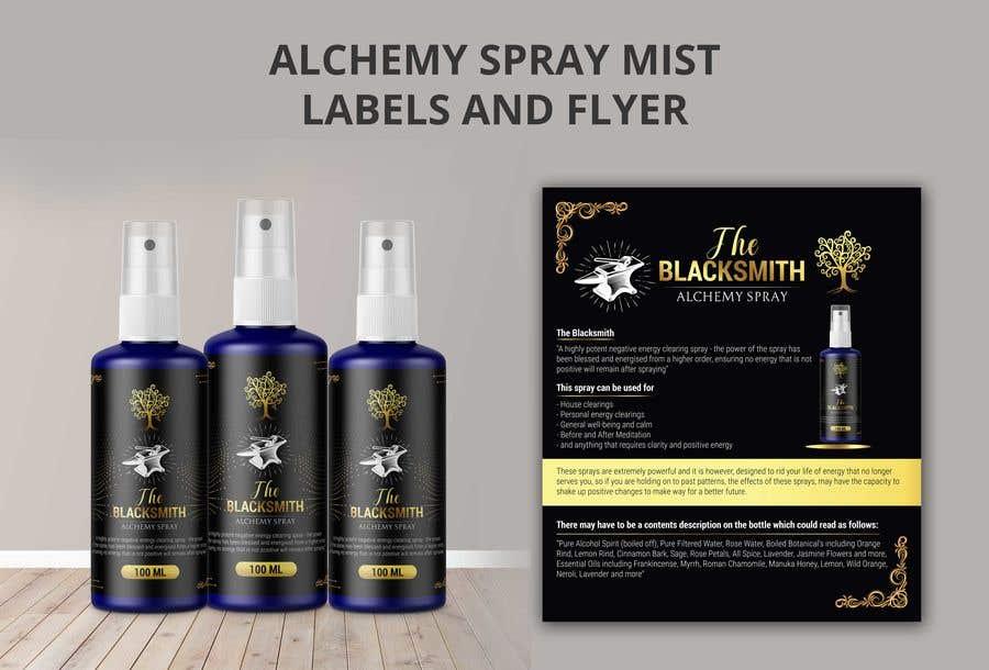Bài tham dự cuộc thi #                                        121                                      cho                                         Alchemy Spray Mist Labels and Flyer