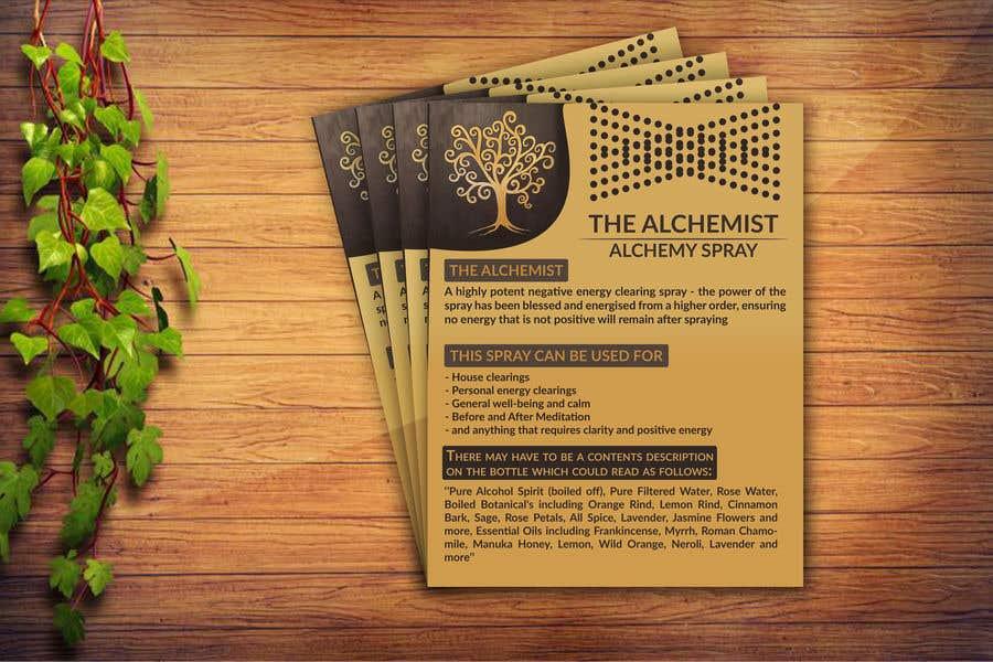 Bài tham dự cuộc thi #                                        150                                      cho                                         Alchemy Spray Mist Labels and Flyer
