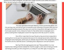 """#44 cho Article on """"Social isolation due to remote working"""" bởi Impressor1"""