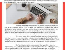 """Nro 44 kilpailuun Article on """"Social isolation due to remote working"""" käyttäjältä Impressor1"""