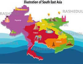#9 cho A creative illustration about some countries in Asia bởi rashelju