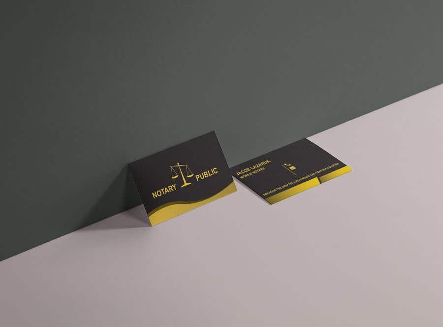 Kilpailutyö #                                        53                                      kilpailussa                                         Business Card - Notary Public