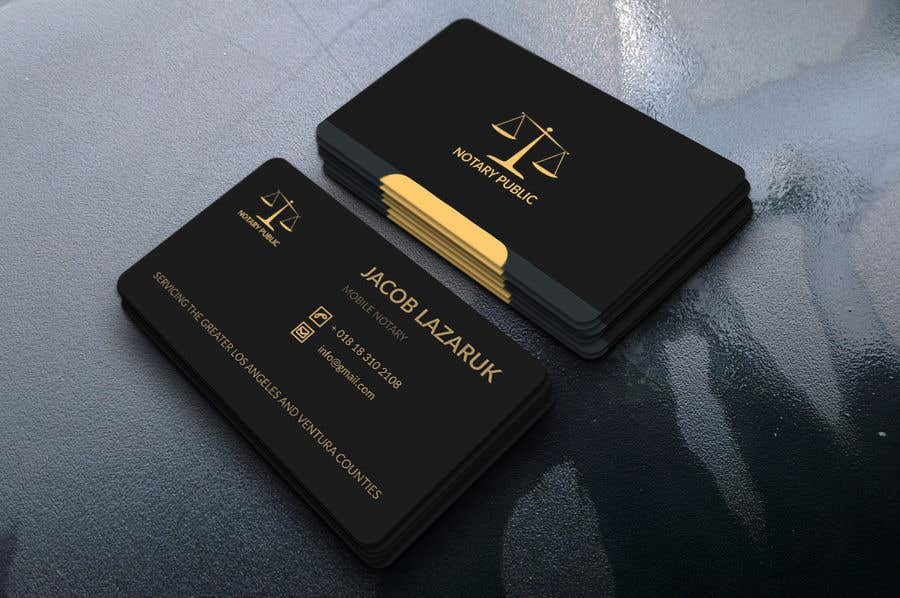 Kilpailutyö #                                        39                                      kilpailussa                                         Business Card - Notary Public