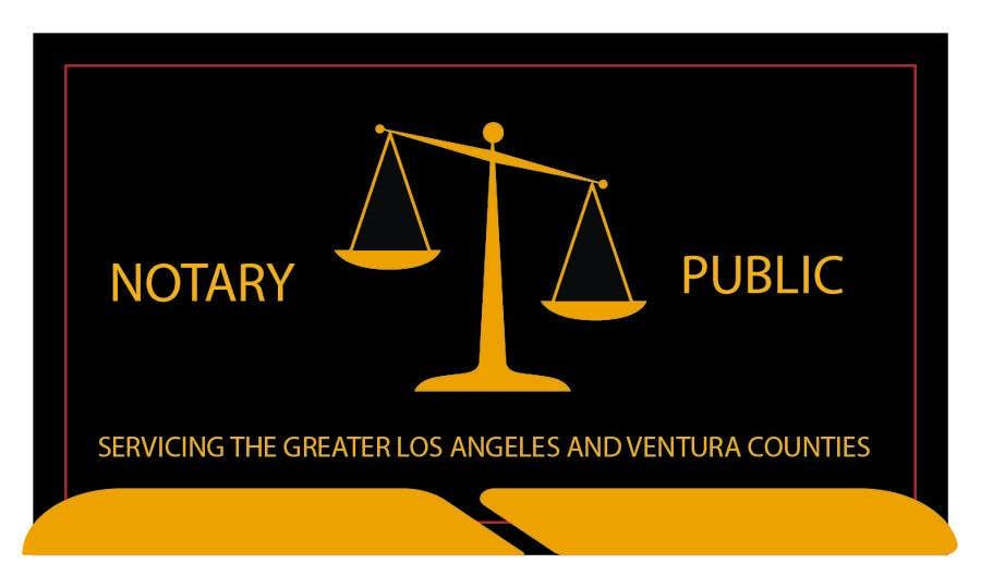 Kilpailutyö #                                        77                                      kilpailussa                                         Business Card - Notary Public