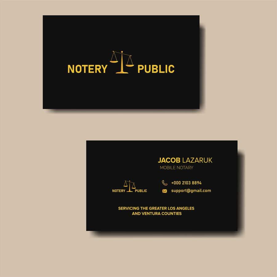 Kilpailutyö #                                        124                                      kilpailussa                                         Business Card - Notary Public