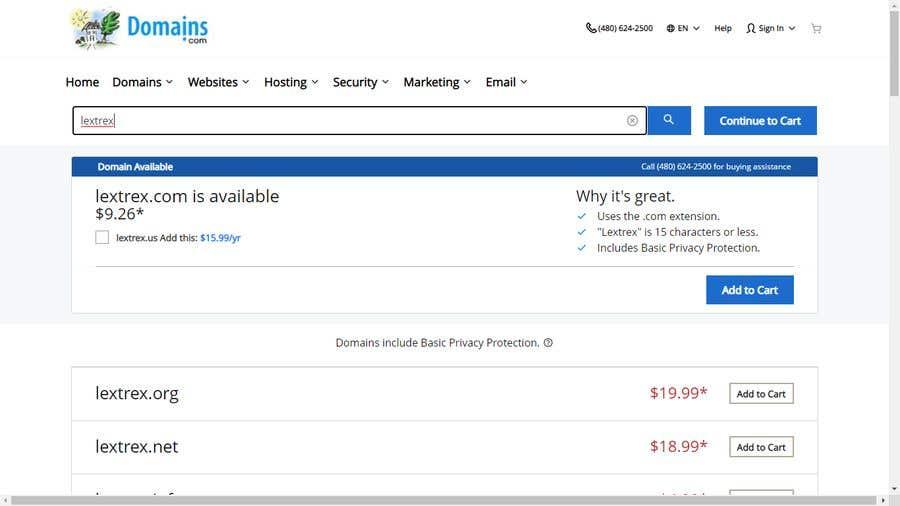 Penyertaan Peraduan #                                        79                                      untuk                                         Looking for a .com domain name for my company
