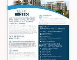 #99 for Eye Grabbing - Property Management Flyer - 30/01/2021 15:39 EST by salinaakter952