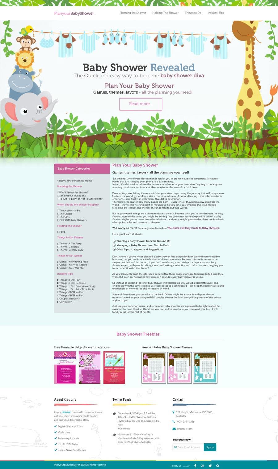 Contest Entry #                                        3                                      for                                         Design a Website Mockup for planyourbabyshower.com