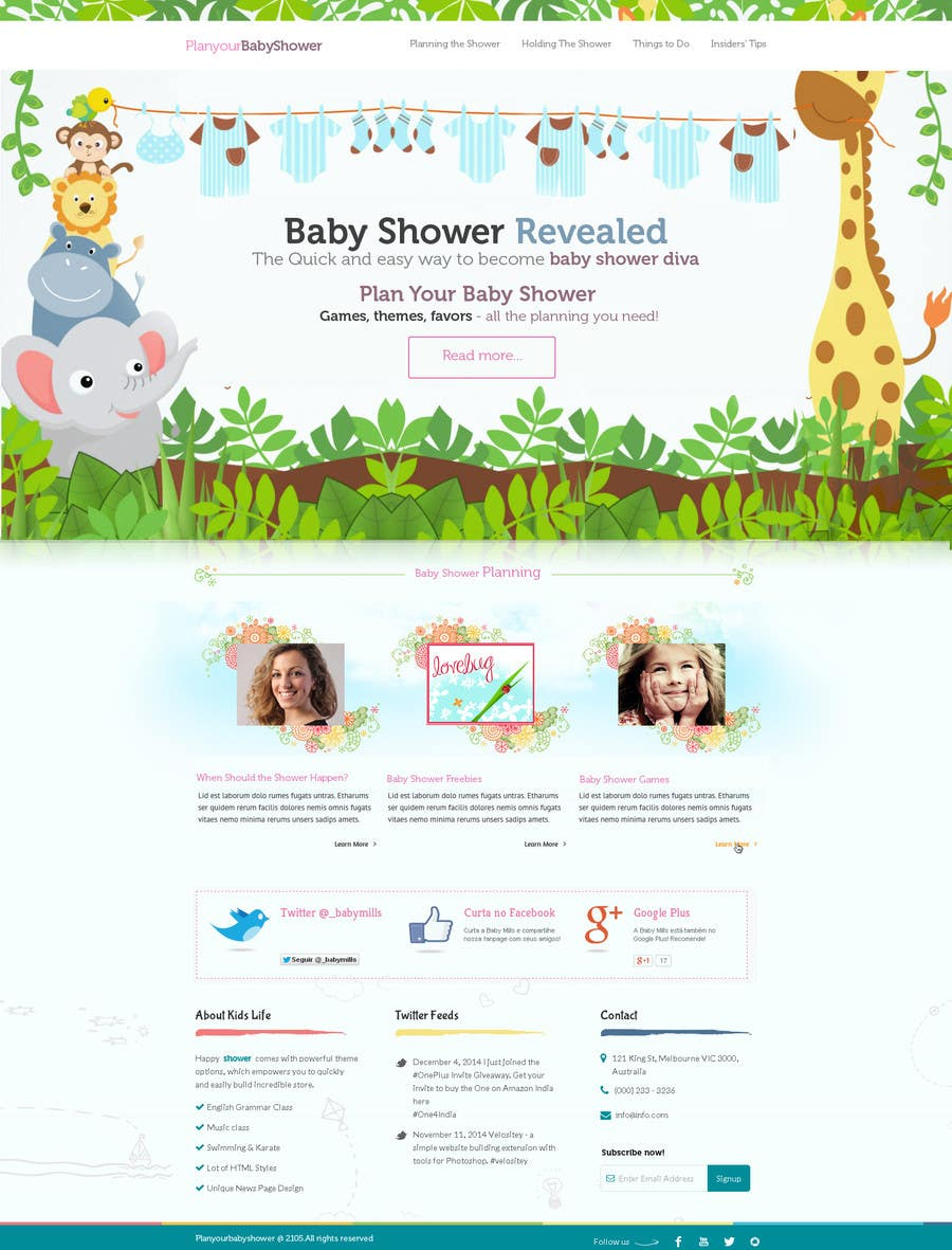Contest Entry #                                        12                                      for                                         Design a Website Mockup for planyourbabyshower.com