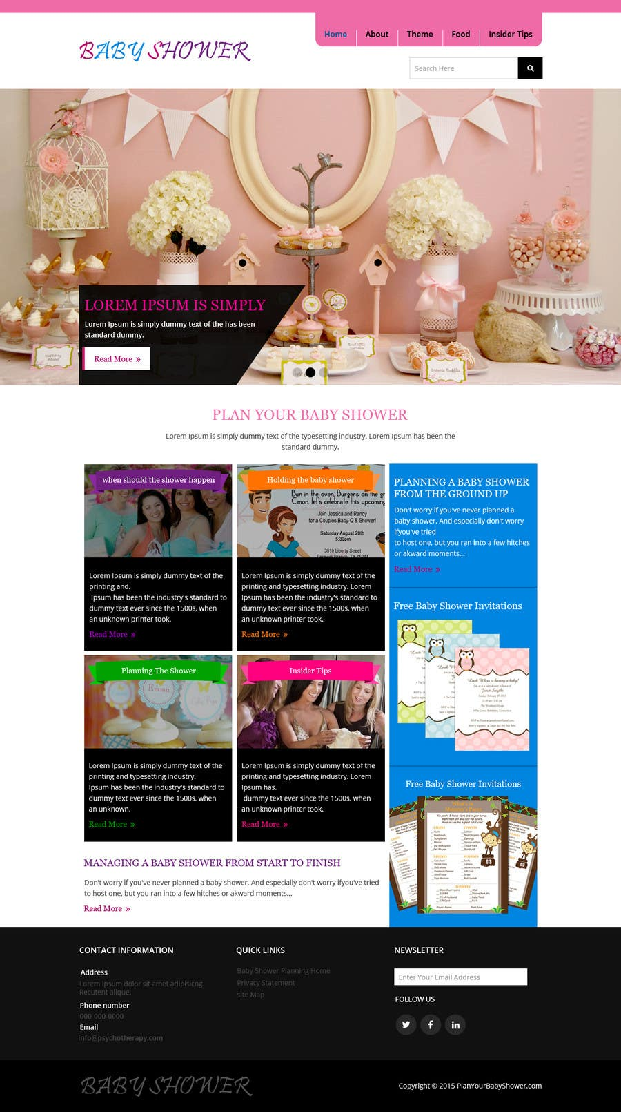 Contest Entry #                                        20                                      for                                         Design a Website Mockup for planyourbabyshower.com