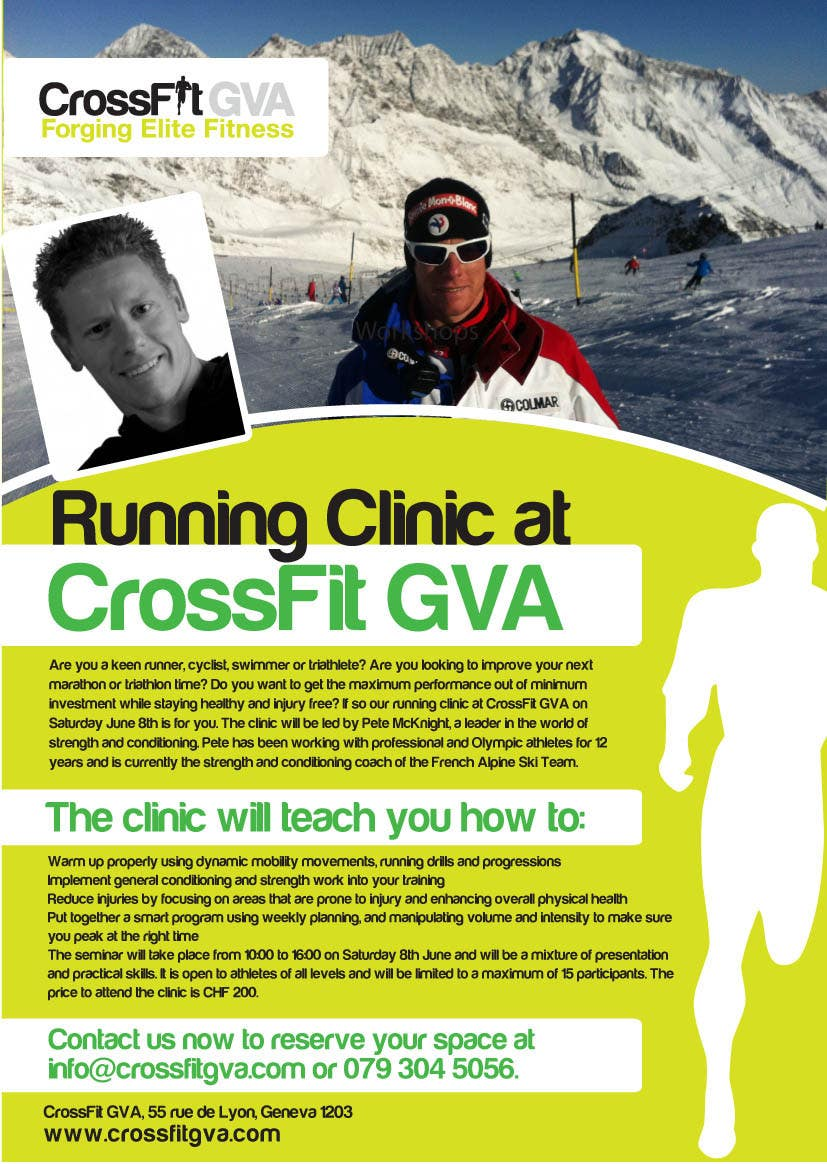 #19 for Advertisement Design for Running Clinic by bigredbox