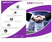 Graphic Design Konkurrenceindlæg #19 for Design a Single Fold Brochure for M2K Consulting