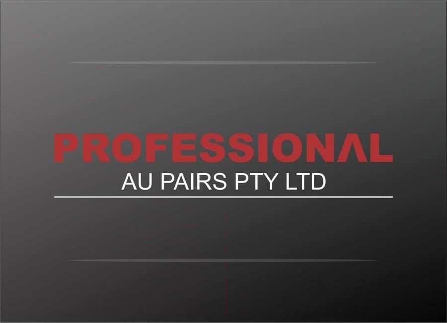 Kilpailutyö #144 kilpailussa Logo Design for Professional Au Pairs Pty Ltd