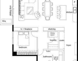 #25 for Floor plan/interior ideas for sub-penthouse condo (1000sq feet) by Jfrezza