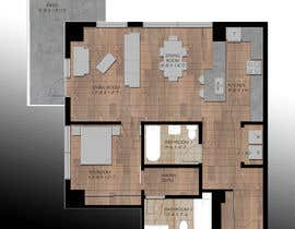 #34 for Floor plan/interior ideas for sub-penthouse condo (1000sq feet) af polydesign13