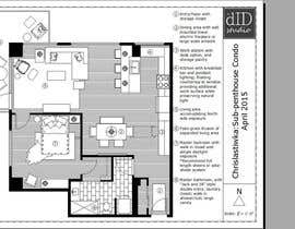 #29 for Floor plan/interior ideas for sub-penthouse condo (1000sq feet) by theDIDstudio