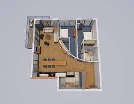 #39 for Floor plan/interior ideas for sub-penthouse condo (1000sq feet) af catalinabota