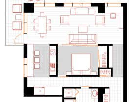 #18 for Floor plan/interior ideas for sub-penthouse condo (1000sq feet) af vityny79