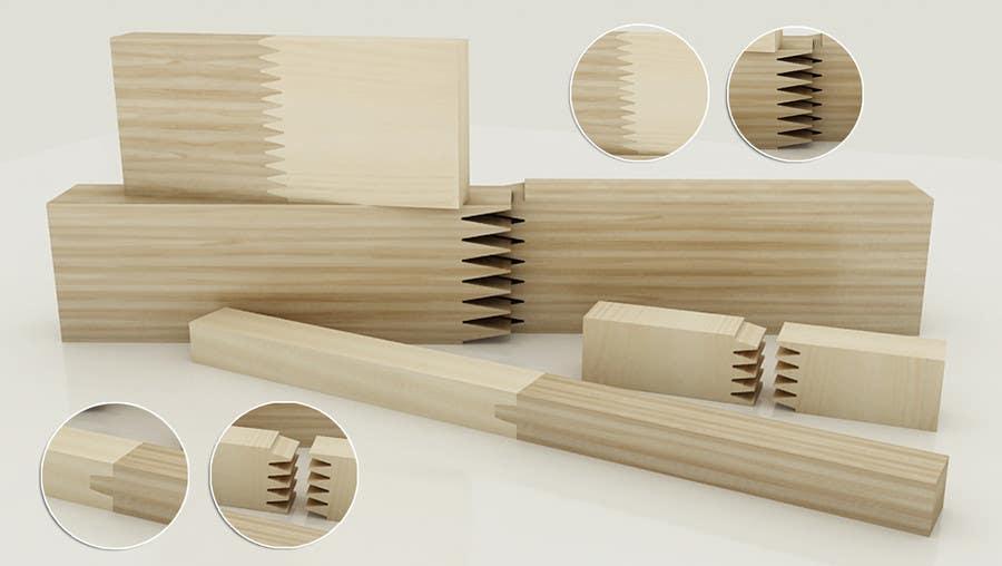 Konkurrenceindlæg #                                        68                                      for                                         Realistic 3D modelling - Sawed Wood profiles