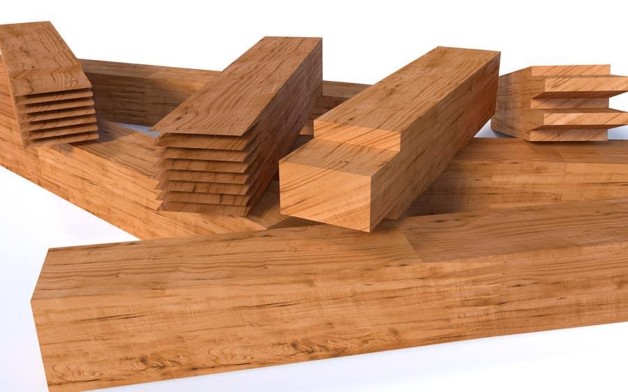 Konkurrenceindlæg #20 for Realistic 3D modelling - Sawed Wood profiles
