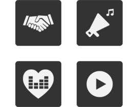 #10 untuk Design some Icons for music collaboration website oleh zzzabc