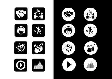 Nro 27 kilpailuun Design some Icons for music collaboration website käyttäjältä khadkamahesh07