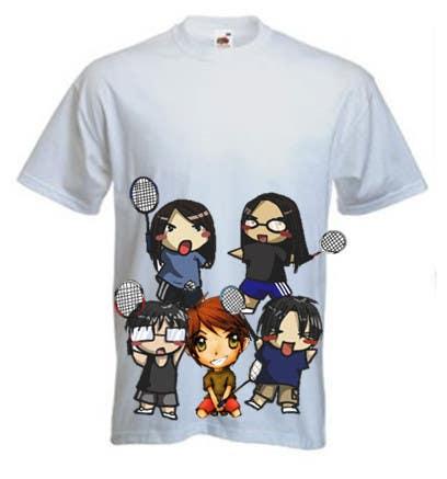 Proposition n°                                        18                                      du concours                                         Design a T-Shirt for Parody Avengers, Badminton, Chibi style