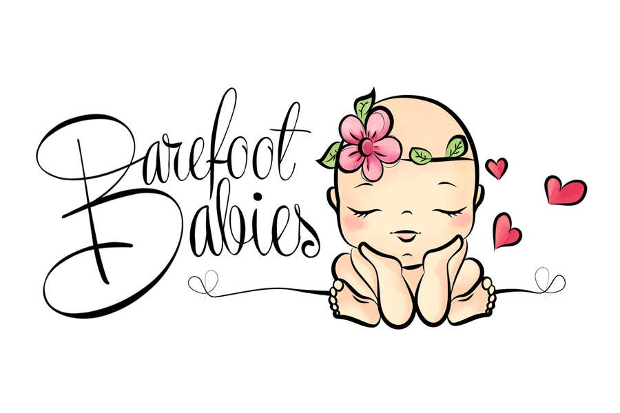 Contest Entry #                                        19                                      for                                         Colour or Re-design Logo for Barefoot Babies Boutique
