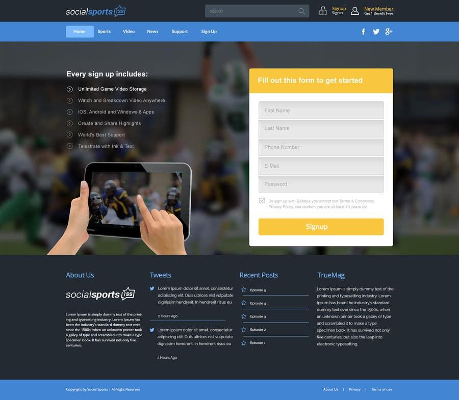 Konkurrenceindlæg #                                        11                                      for                                         Design a Website for Sports Skills Video Uploading Site