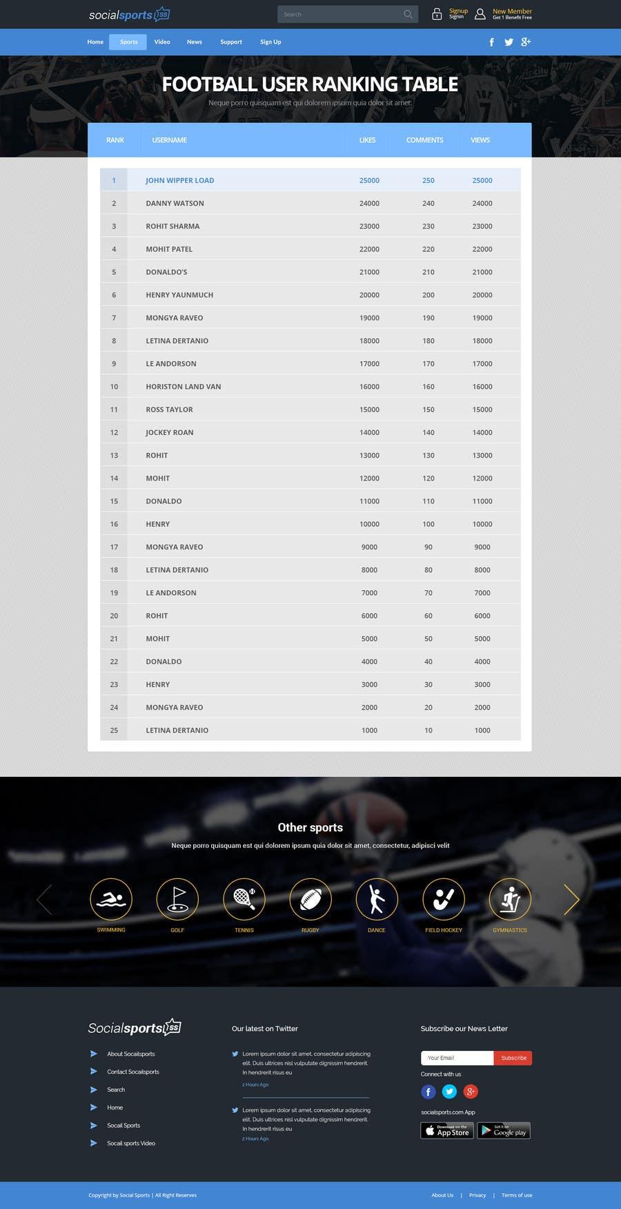 Konkurrenceindlæg #                                        14                                      for                                         Design a Website for Sports Skills Video Uploading Site