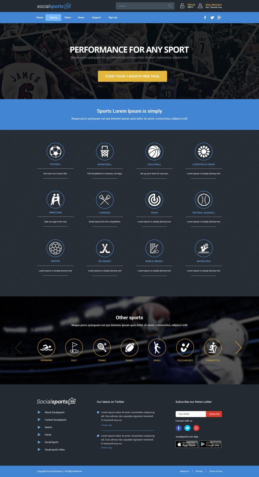 Konkurrenceindlæg #                                        17                                      for                                         Design a Website for Sports Skills Video Uploading Site