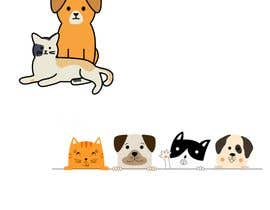 #4 para sticker design of funny or cute cat or dog multiple winners posisble. por shriyaray19