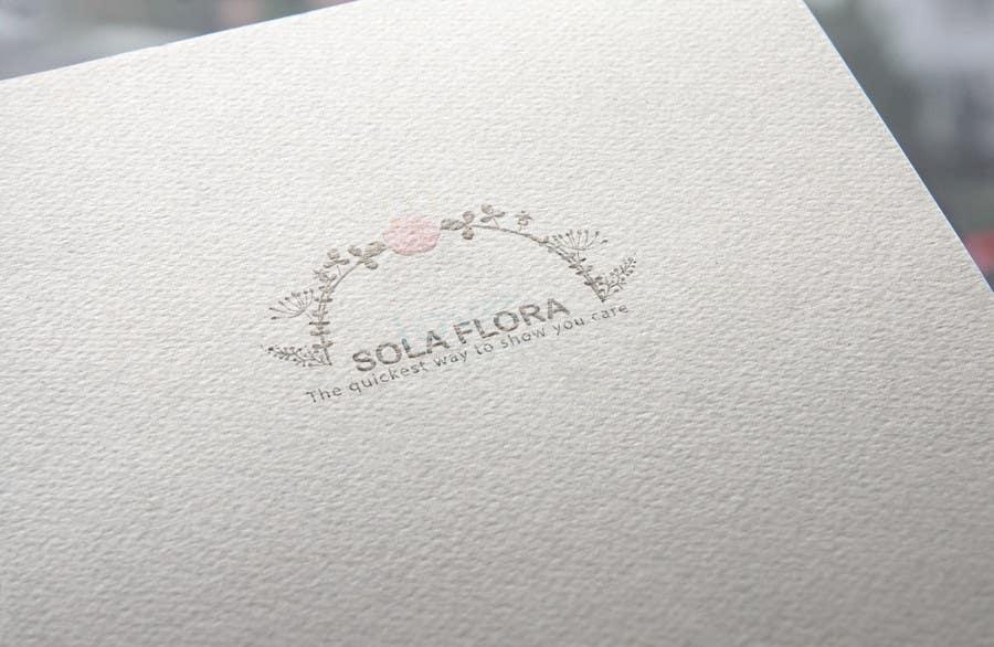 Konkurrenceindlæg #                                        7                                      for                                         Design a Logo for flower shop called sola flora