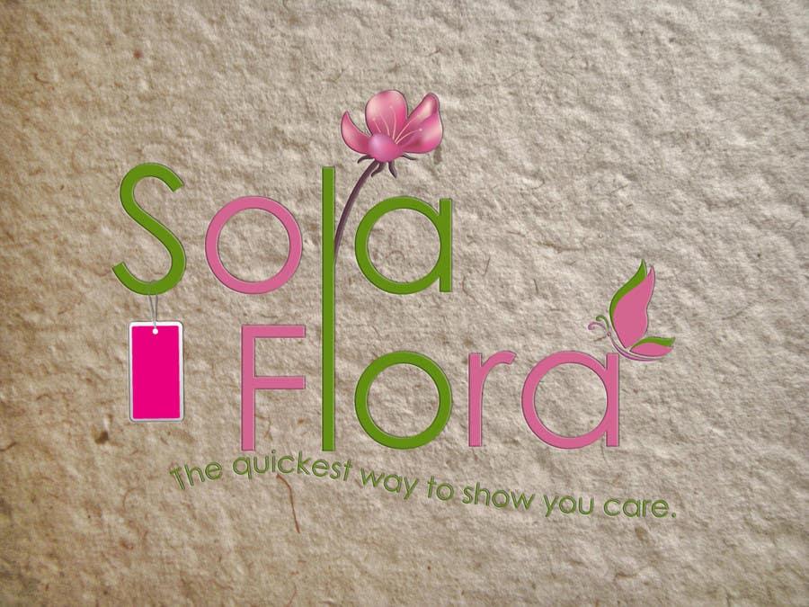 Konkurrenceindlæg #                                        91                                      for                                         Design a Logo for flower shop called sola flora