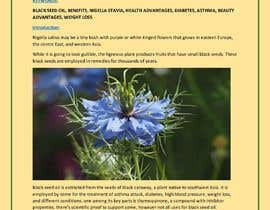 #29 pentru Blog post for benefits of Black Seed (Nigella Stavia) and Black Seed oil de către priyajen